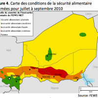 FEWS net's projected food security situation (July-September 2010), Niger.  We expect a normal harvest to come in in Niger.