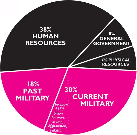 USA Budget Pie Chart 2011